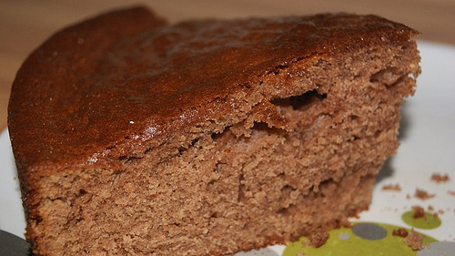 Gateau puree de marron et chocolat